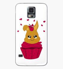 Häschen im Kirsch Cupcake Hülle & Klebefolie für Samsung Galaxy