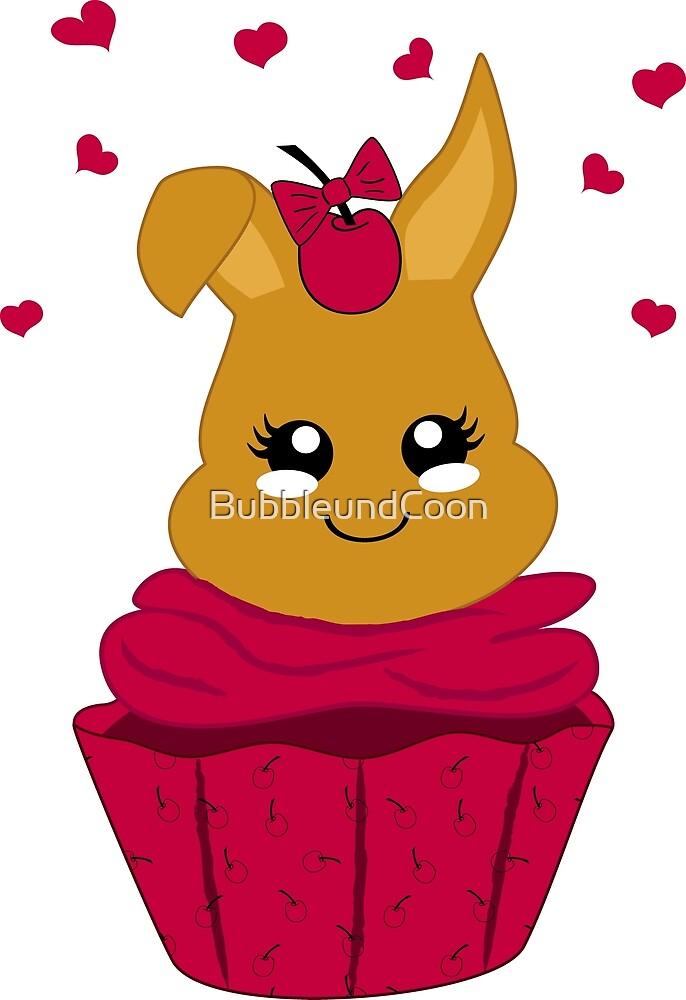 Häschen im Kirsch Cupcake von Stefanie Keller