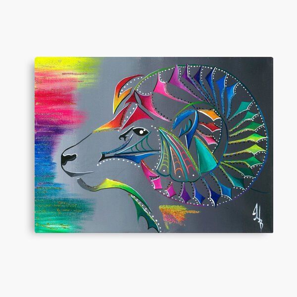 ᒫ ᔭ ᑎ ᐦ ᐠ mâyatihk- the big horned sheep Canvas Print