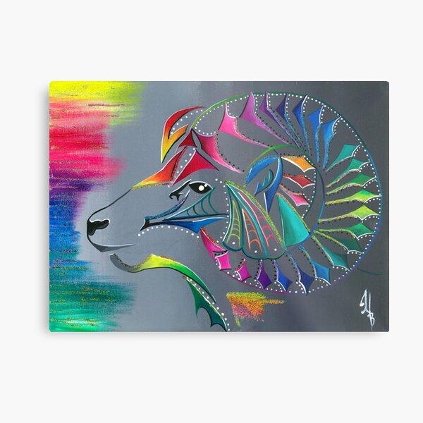 ᒫ ᔭ ᑎ ᐦ ᐠ mâyatihk- the big horned sheep Metal Print