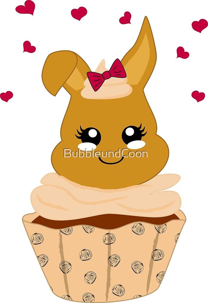 niedlicher Haselnuss Cupcake von Stefanie Keller