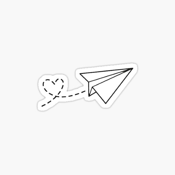 paper airplane silhouette tattoo