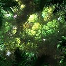 Looking up at a Jungle Canopy by Rebecca Ponsford