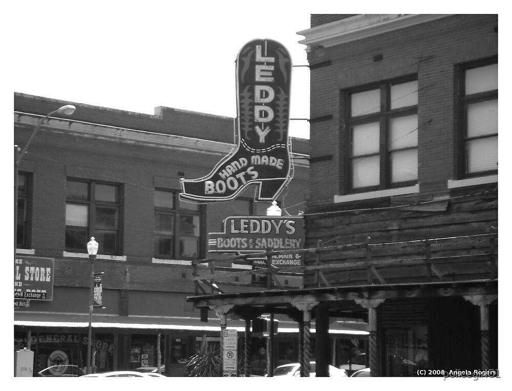 Fort Worth Stock Yards #2 -- Leddy's Boots and Saddlery by policegirl01