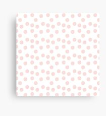 pink donuts with sprinkles  Canvas Print