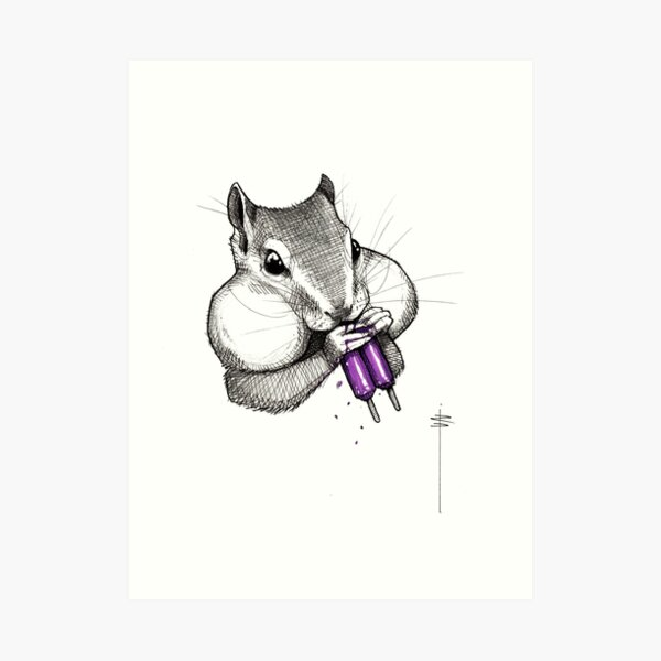 Popsicle squirrel Impression artistique