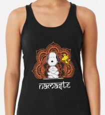 Snoopy Peanuts Woodstock Funny Yoga Pose Namaste Women's Tank Top