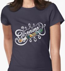 Doctor Who Geronimo! Womens Fitted T-Shirt