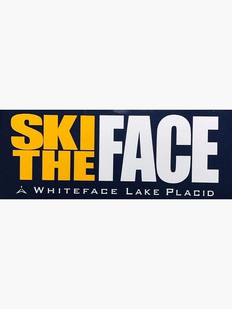 Ski The Face Sticker by jusullivan7