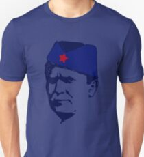 Tito Josip Broz yugoslavia  -  portrait red star  Unisex T-Shirt