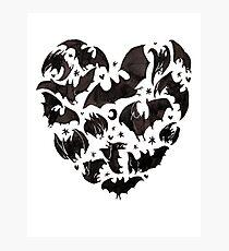 Bat Heart Photographic Print