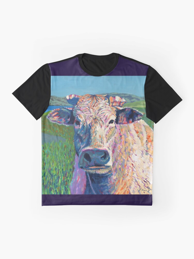 Alternate view of Bovine (Cow. Well, technically a bullock) Graphic T-Shirt