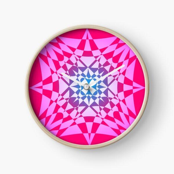 """Birth"" - digital abstract illustration mandala Clock"