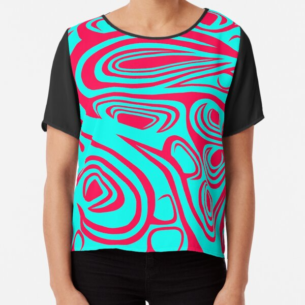 """""""Growth"""" - abstract spiral art which strives towards perfection Chiffon Top"""
