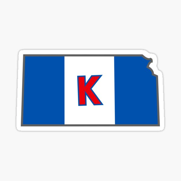 University of Kansas Flag Sticker