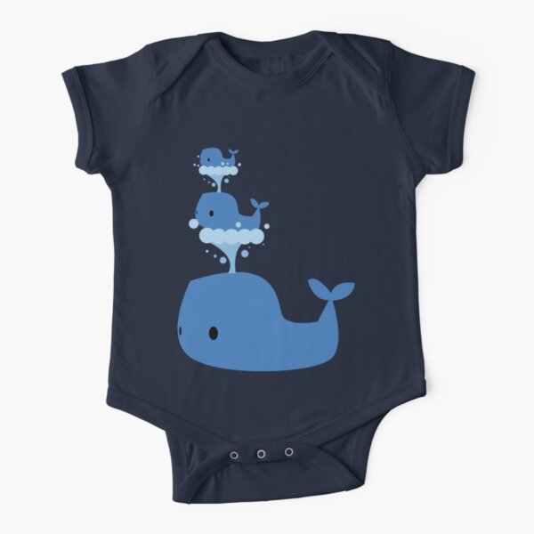 Whales Whales Whales Short Sleeve Baby One-Piece