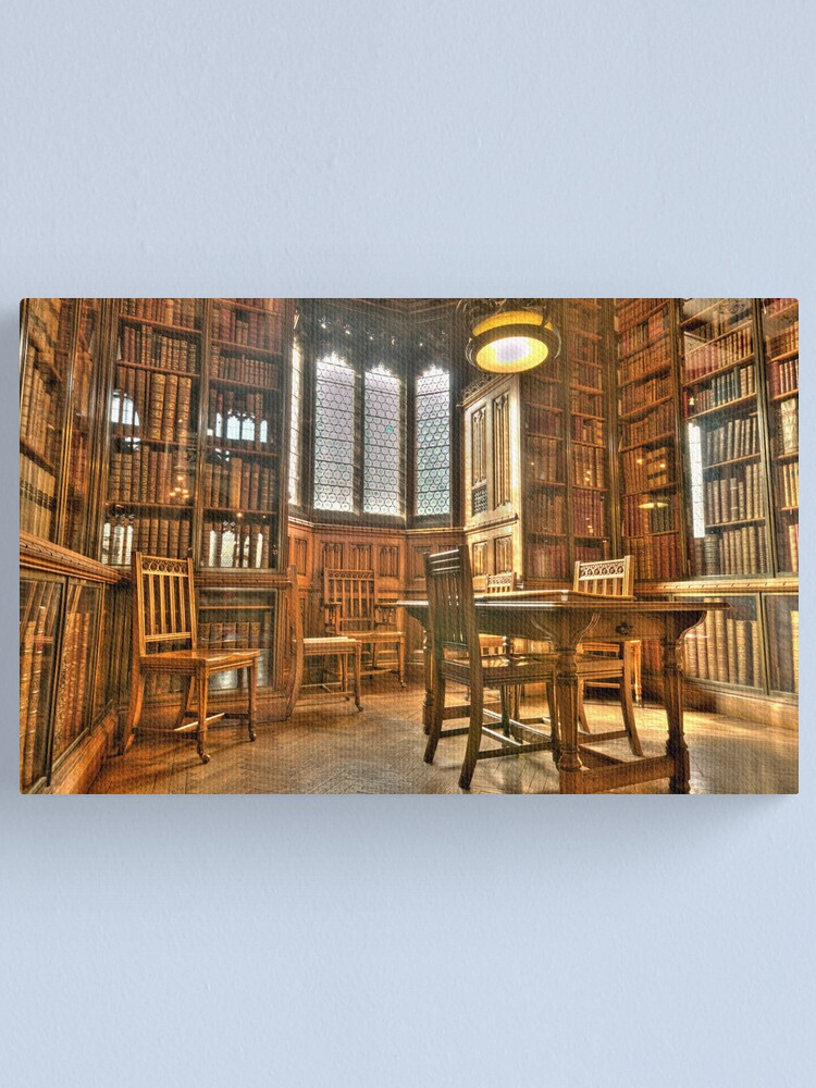 """Alternate view of """"Quiet Please in the Library"""" Canvas Print"""
