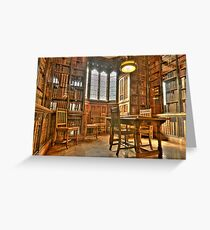 """Quiet Please in the Library"" Greeting Card"