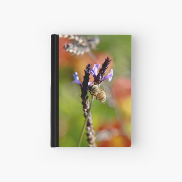 Bee on Lavender Hardcover Journal
