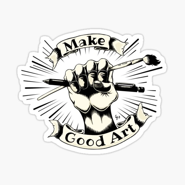 Make good art logo cream Sticker