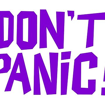 NDVH Don't Panic - Purple 1 H2G2 by nikhorne