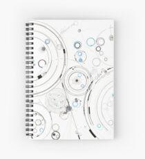 Orbital Mechanics - ink and silverpoint Spiral Notebook