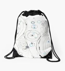 Orbital Mechanics - ink and silverpoint Drawstring Bag
