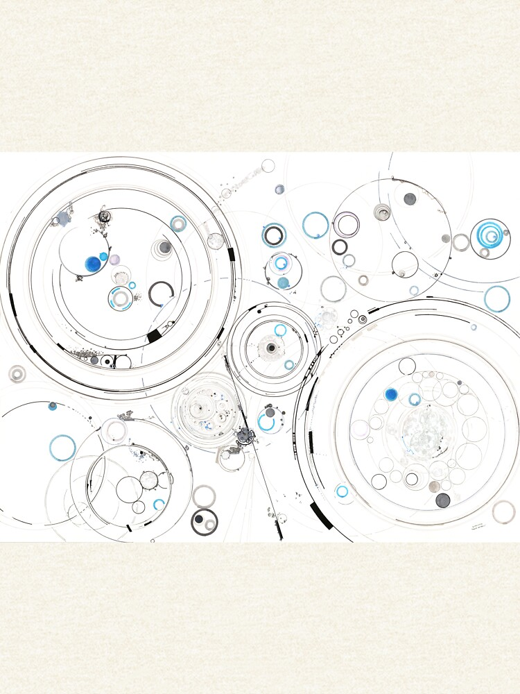 Orbital Mechanics - ink and silverpoint by rvalluzzi