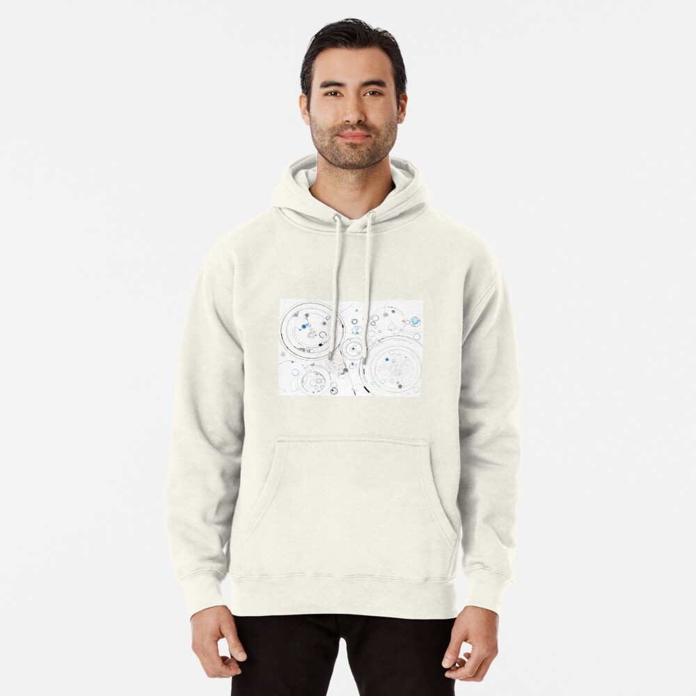 Orbital Mechanics - ink and silverpoint Pullover Hoodie