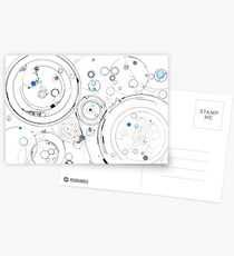Orbital Mechanics - ink and silverpoint Postcards