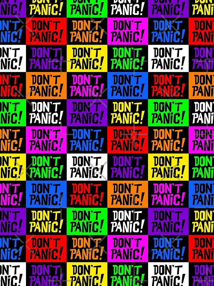 NDVH Don't Panic - Multicoloured H2G2 by nikhorne