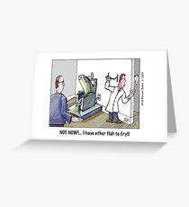 interruption Greeting Card
