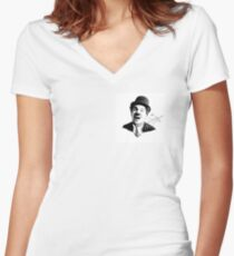 Charlie Chaplin - SMILE Fitted V-Neck T-Shirt