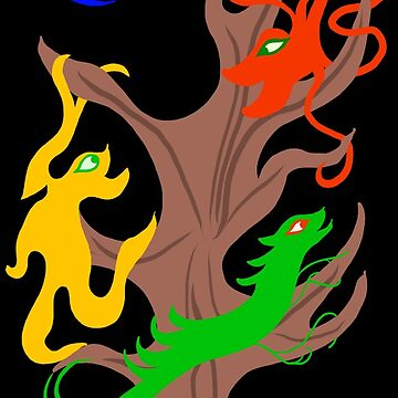 Happy Monsters Climbing a Tree - Transparent Background by GretaMonster