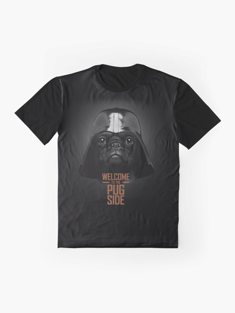 Alternate view of The Pug Side T-Shirt Graphic T-Shirt