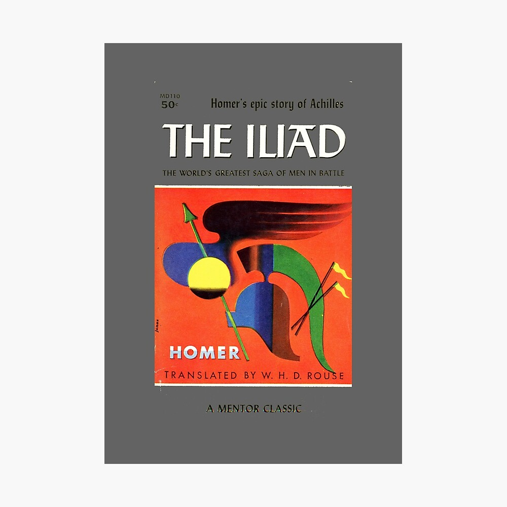 The Iliad by Homer Book Poster