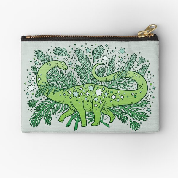Winter Solstice Sauropod | Evergreens Palette Zipper Pouch