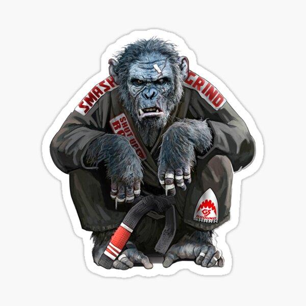 The Gentle Art of Jiu Jitsu Chimp Sticker