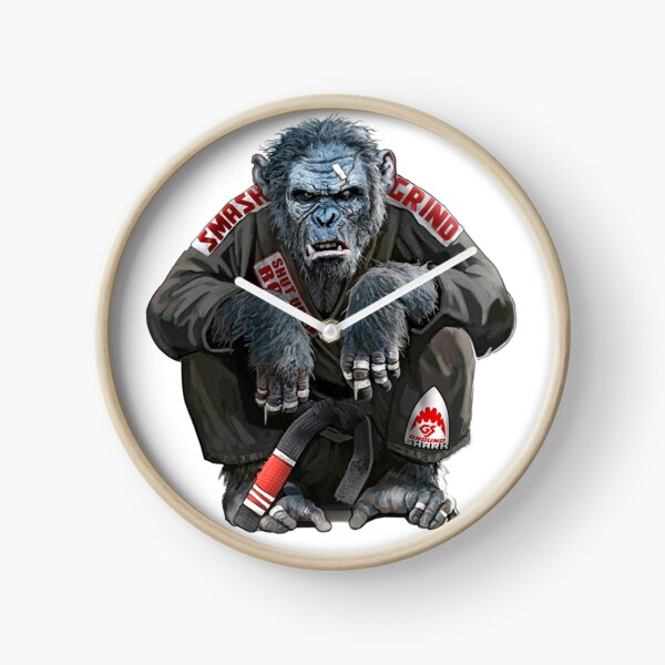 The Gentle Art of Jiu Jitsu Chimp Clock