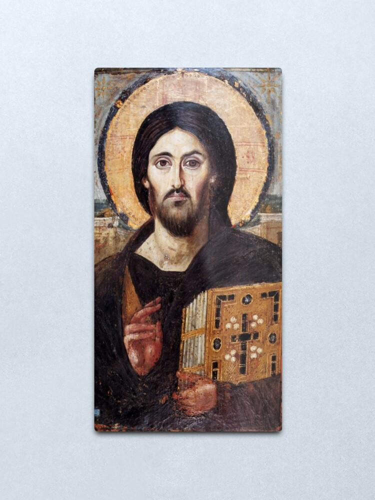 Alternate view of The Christ Pantocrator of St. Catherine's Monastery at Sinai Metal Print