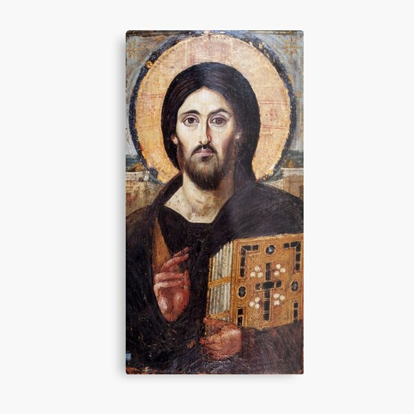 The Christ Pantocrator of St. Catherine's Monastery at Sinai Metal Print