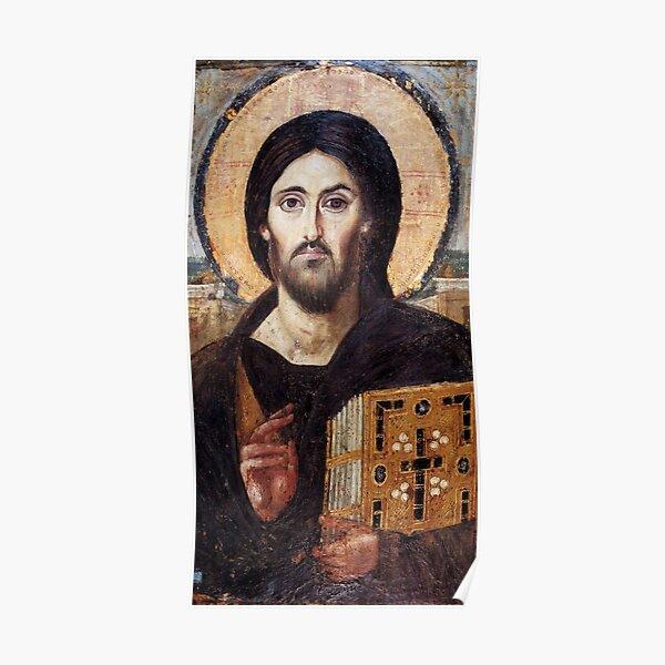 El Cristo Pantocrátor del monasterio de Santa Catalina en Sinaí Póster
