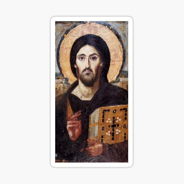 The Christ Pantocrator of St. Catherine's Monastery at Sinai Sticker