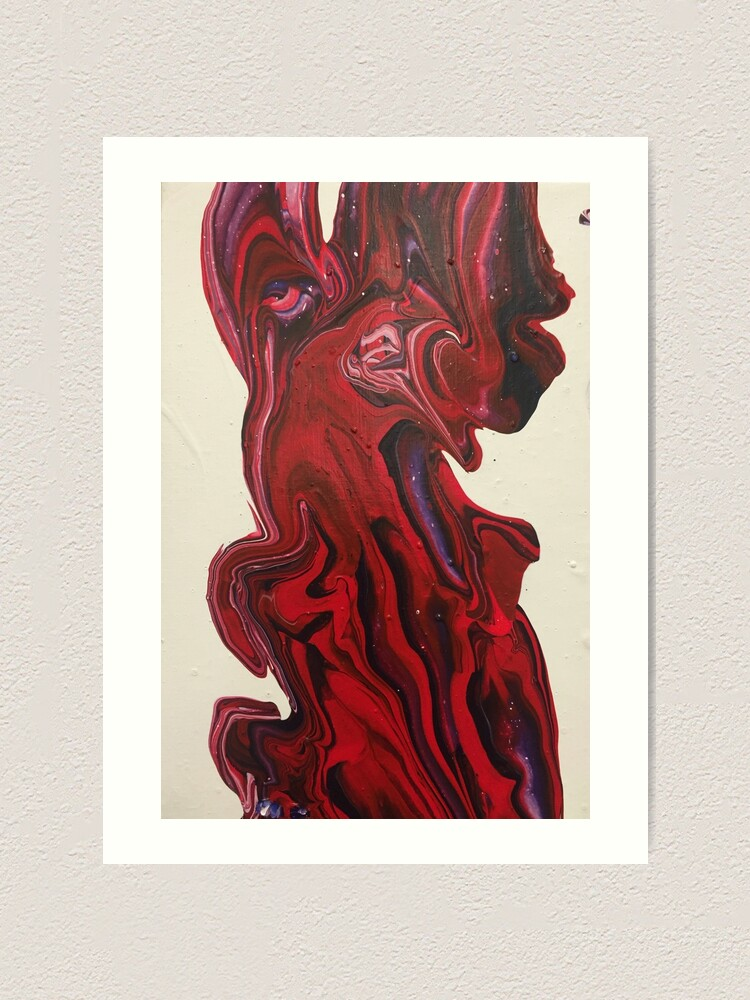 "Alternate view of  Abstract Painting-Title ""Red River"" Art Print"