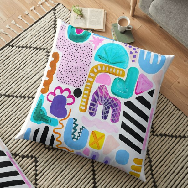 Party on Paper Floor Pillow