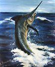 Marlin - deep sea series #1 - fish by Elisabeth Dubois