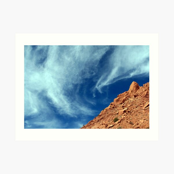 New Mexico Sky clouds photo by CheyAnne Sexton Art Print