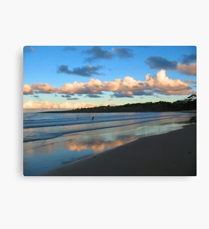 Dusk Swim Beneath the Clouds Canvas Print