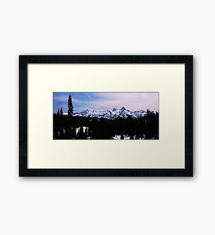 Tatoosh Mountain Range Framed Print
