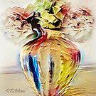 It's A Parti-Colored Floral Still Life by CJ Anderson